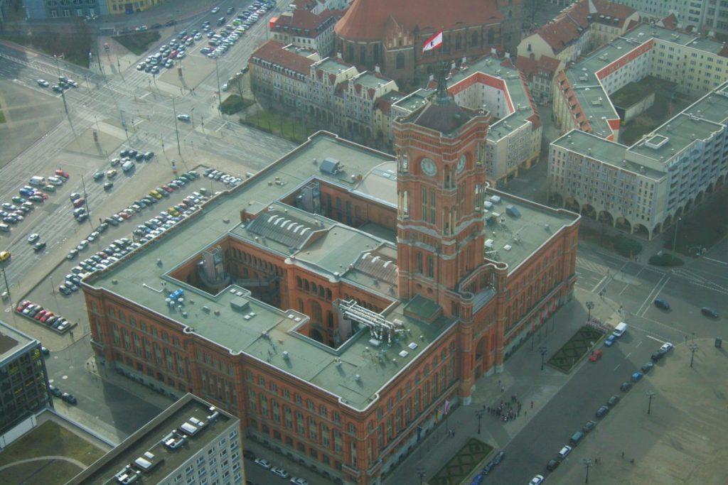 Rotes Rathaus vom Berliner Funkturm